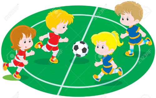 small resolution of 1 117 children playing football stock vector illustration and