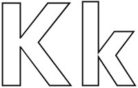 clipart letter k - Clipground