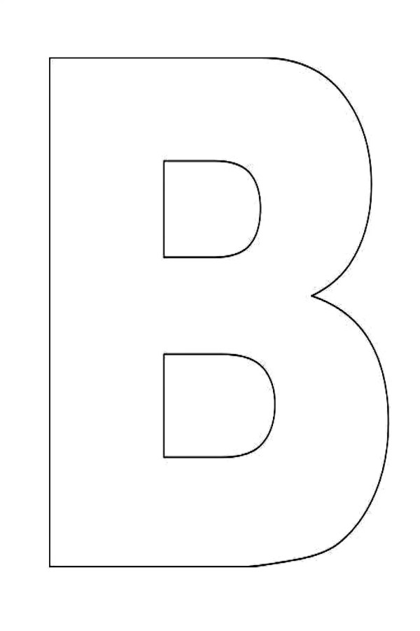 clipart letters outline - clipground