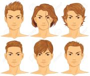 clipart man face brown hari - clipground
