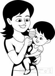 mother clipart outline baby child children drawing mom toy clip sitter happy daughter hug cliparts flower giving graphics library graphic