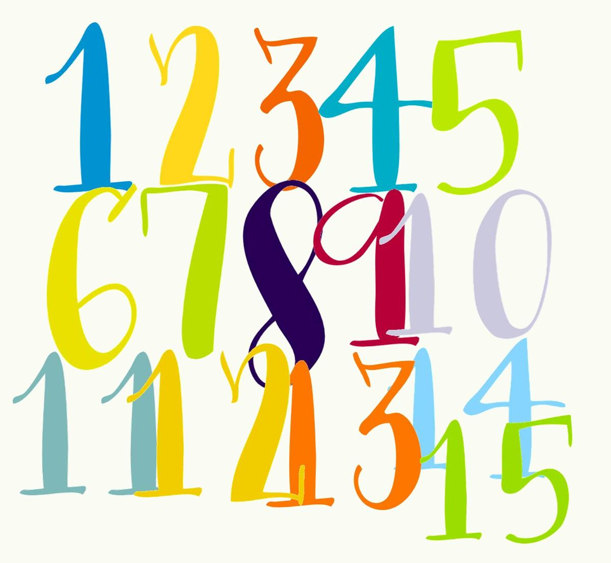 Clipart Numbers 1 20