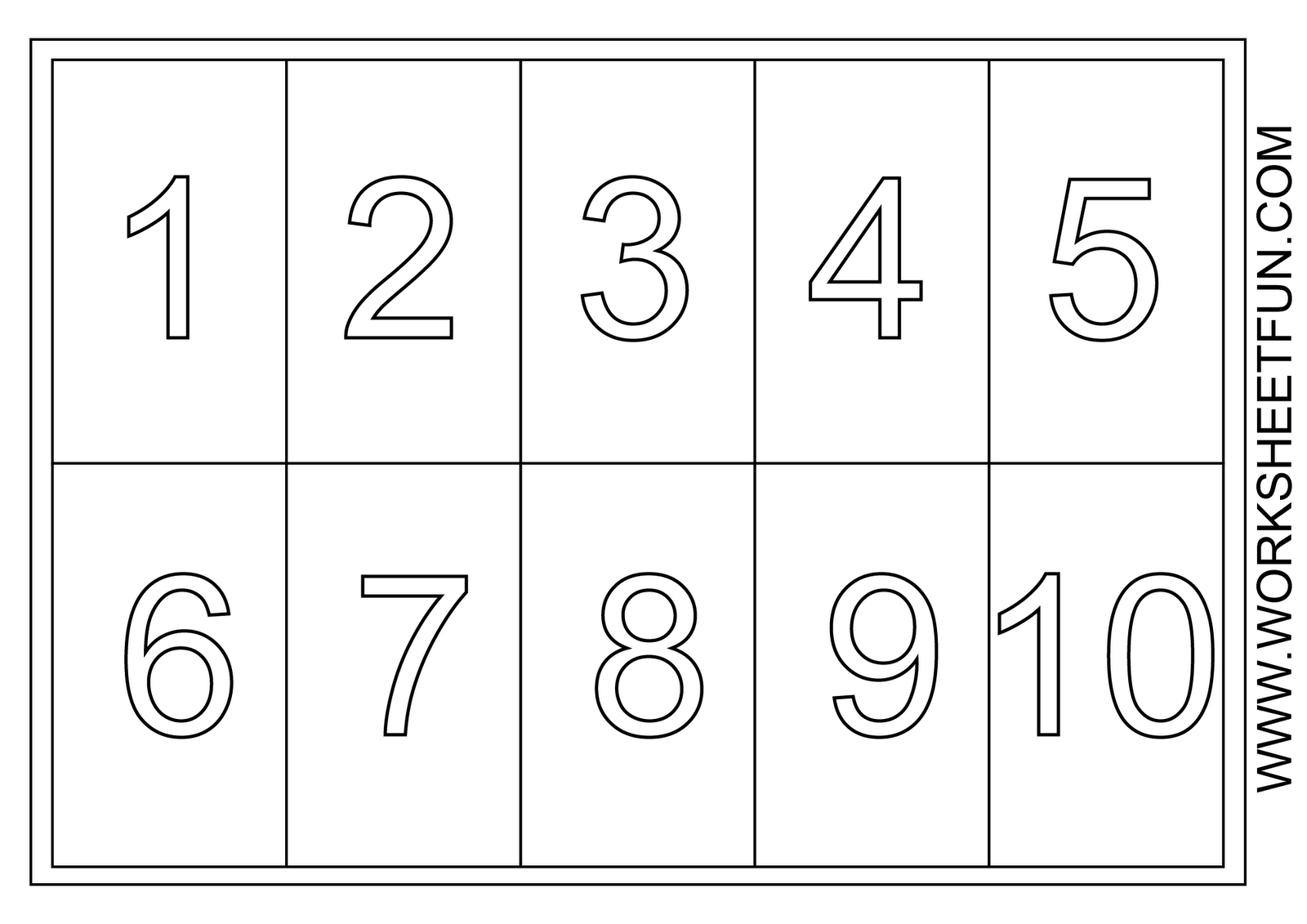 Clipart Numbers 1 5