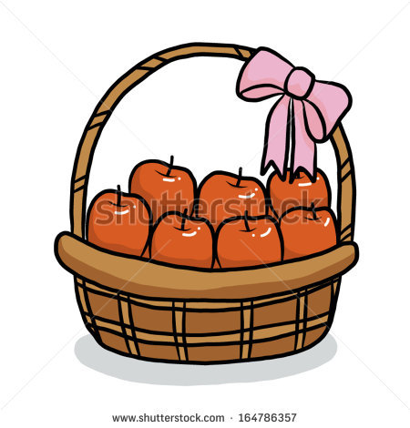 clipart of apples in basket