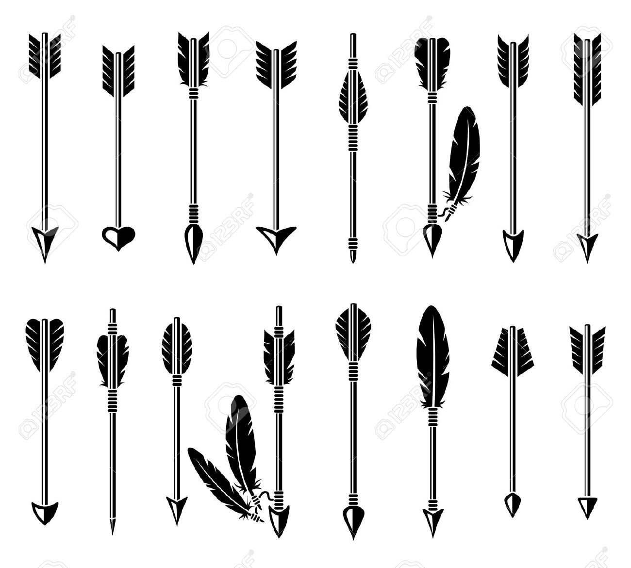 Clipart Of Archery Bow And Arrow Outline 20 Free Cliparts