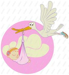 baby cartoon clipart clip stork born shower being cliparts animated vector royalty delivery clipground afternoon congratulations bacon fotw october did
