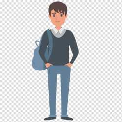 students clipart student backpack transparent euclidean wearing clipground vector hiclipart