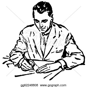 clipart of man writing out a flow chart 20 free Cliparts