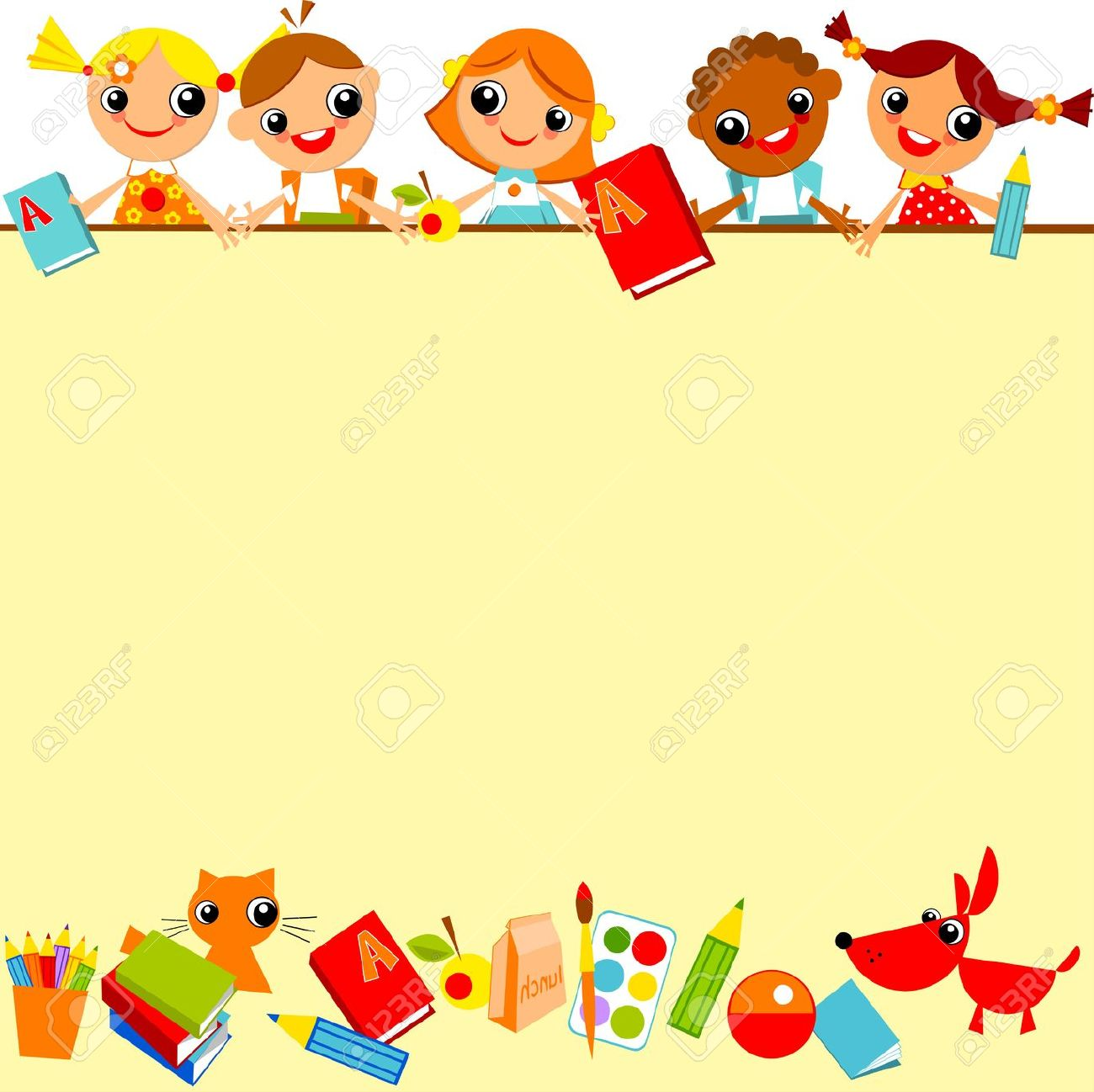 cute school clipart horizontal border 20 free Cliparts   Download images on Clipground 2020