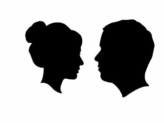 silhouette side clipart person woman clipground