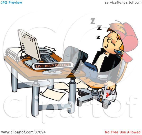 clipart sleeping desk - clipground