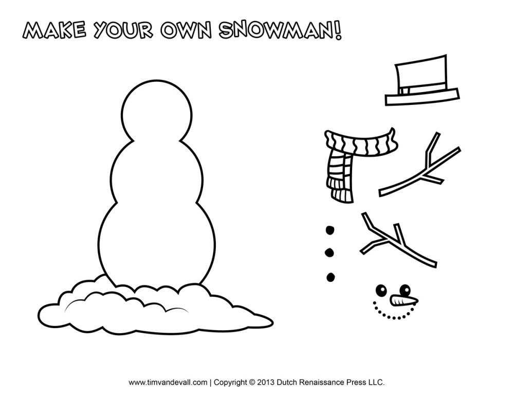 medium resolution of snowman free printable clipart