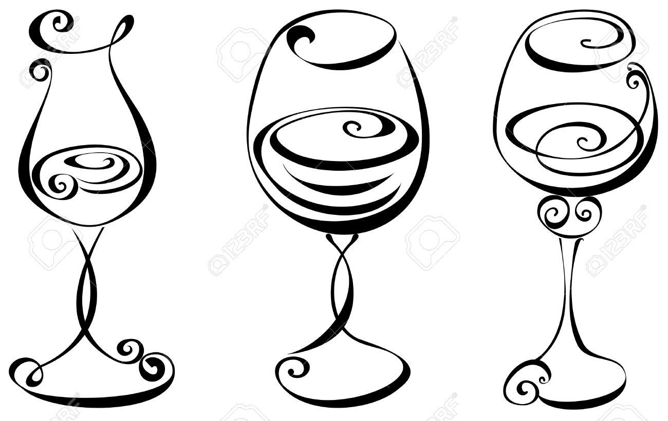 Clipart White Silhouette Wine Glass 20 Free Cliparts