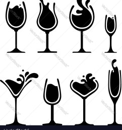 silhouette of wine glass with splash royalty free vector image  [ 931 x 1080 Pixel ]
