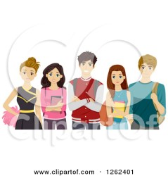 clipart students cliques cheerleader clipground vector