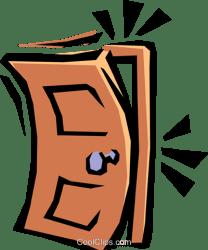 door clipart closing slamming clip shut cartoon illustration vector royalty clipground cliparts showing
