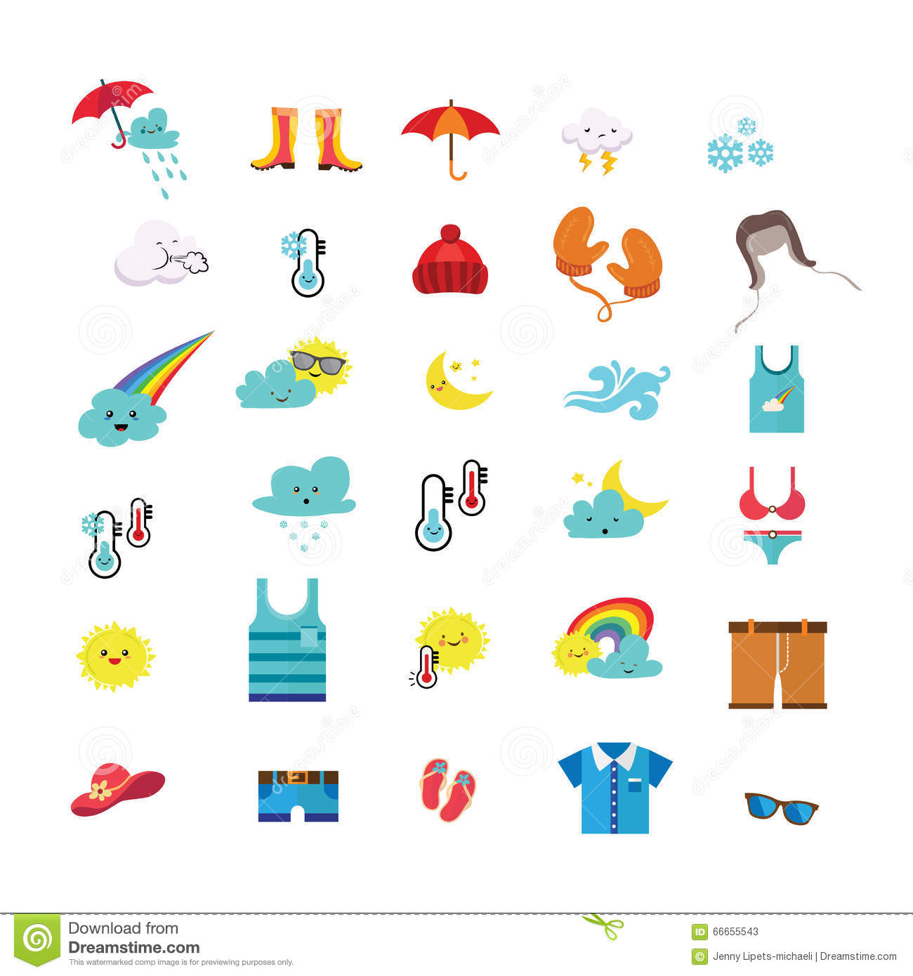 Clothes For Sunny Weather Clipart