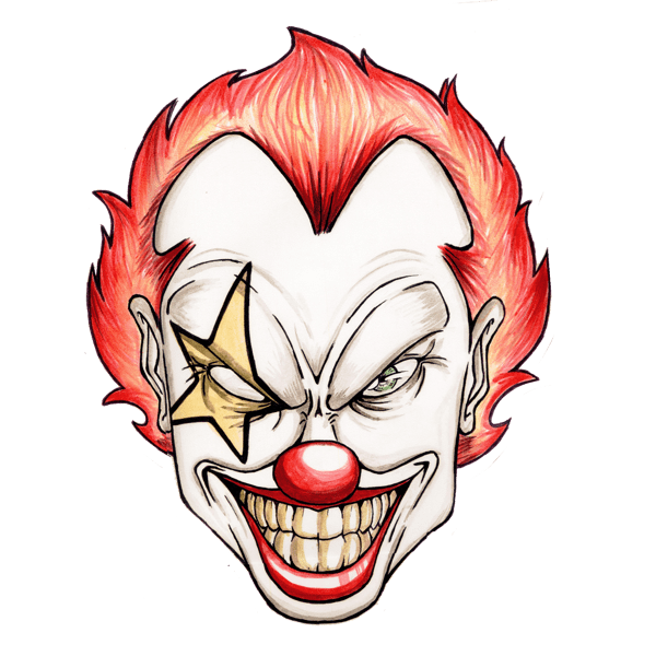clown clipart scary 20 free cliparts