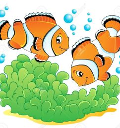 clownfish and sea anemone clipart download [ 1300 x 1205 Pixel ]