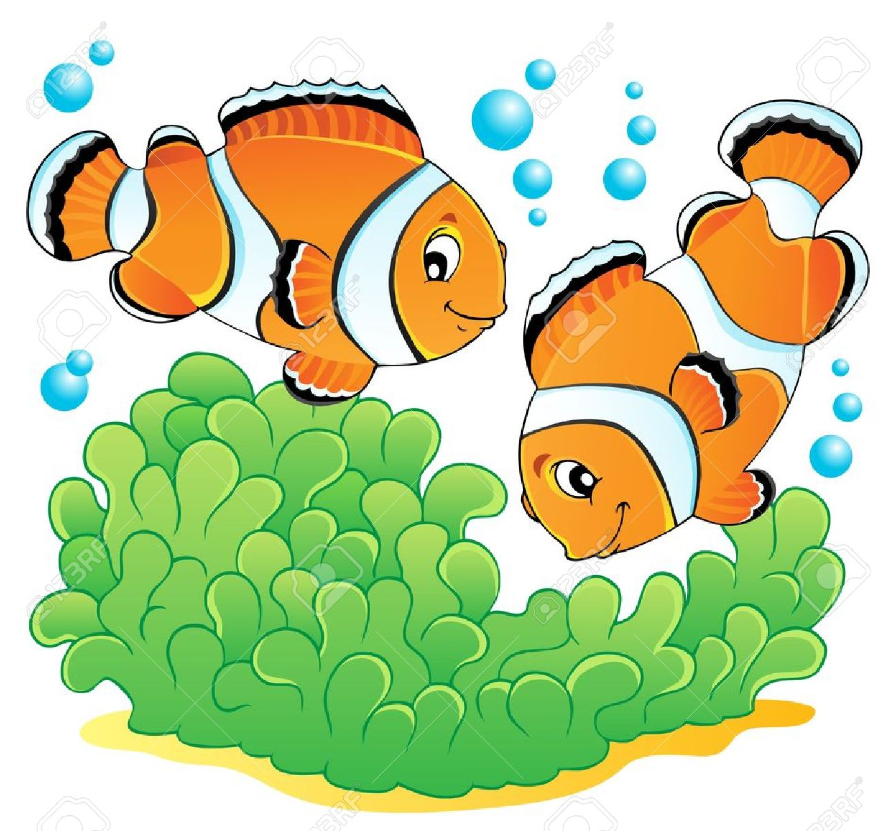hight resolution of clownfish and sea anemone clipart download