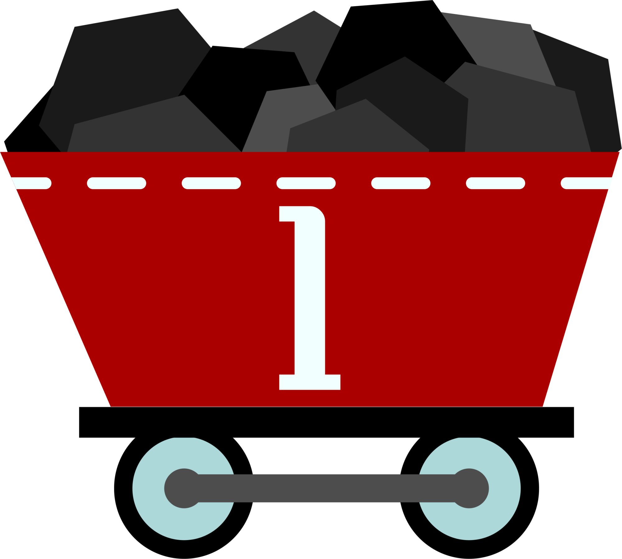 hight resolution of coal train clipart