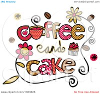 Coffee and cake clipart - Clipground