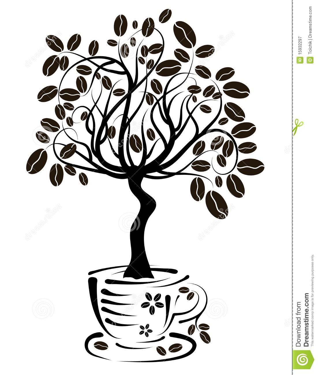 hight resolution of tree coffee clipart