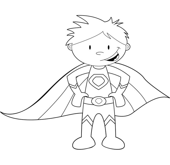 coloring clipart for girl superheros 20 free Cliparts