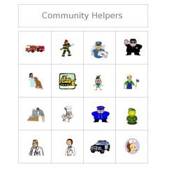 community helpers clipart black and white free bingo game community [ 849 x 1099 Pixel ]