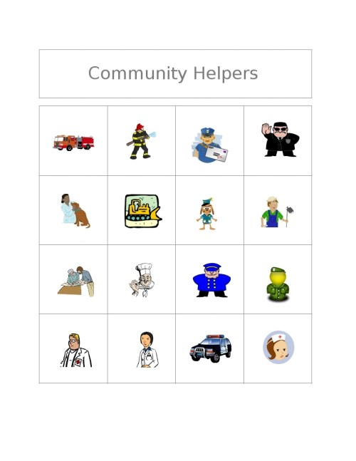 small resolution of community helpers clipart black and white free bingo game community