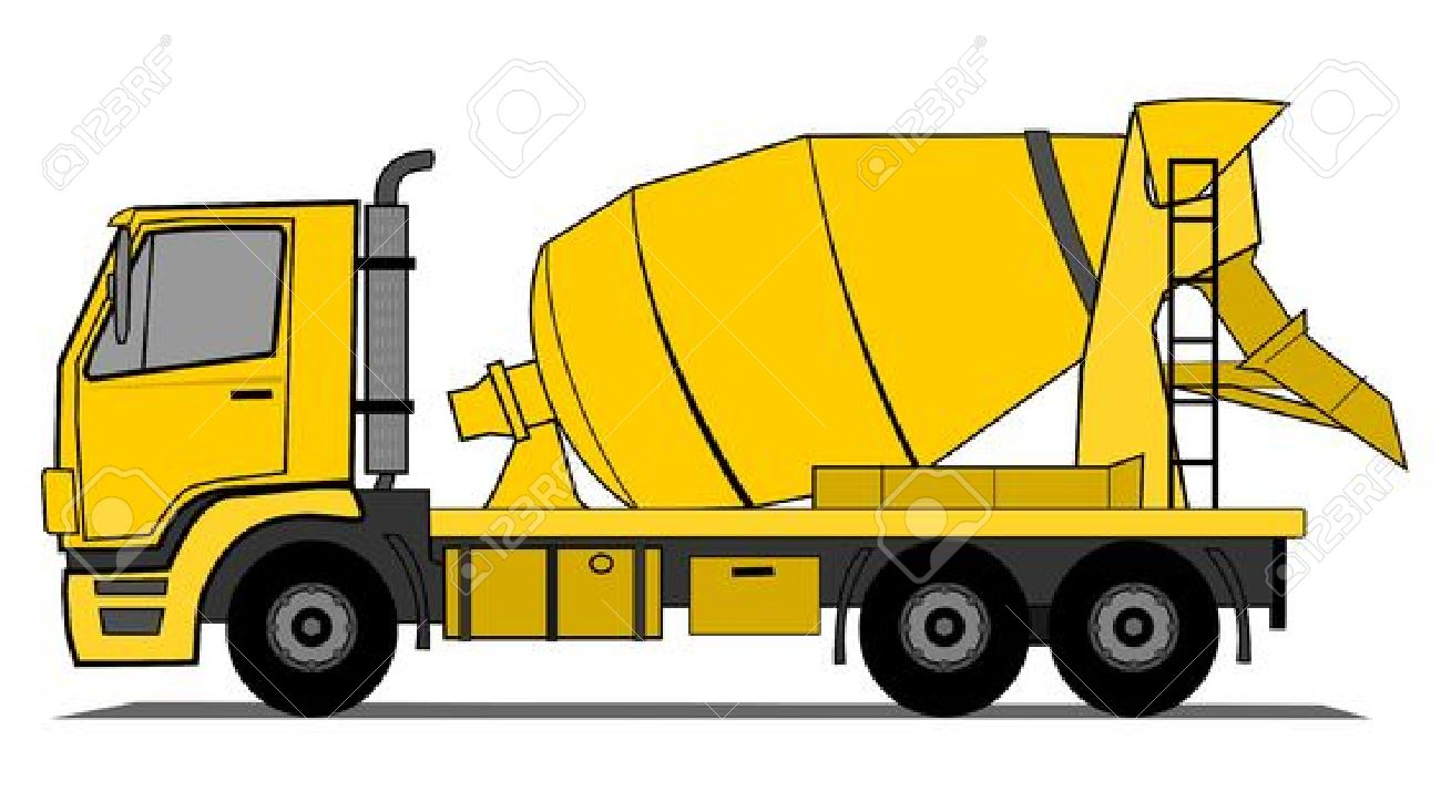 hight resolution of concrete mixer clipart