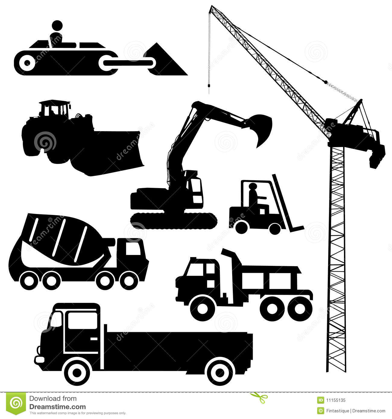 Construction Machinery Clipart 20 Free Cliparts