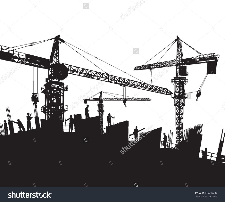 Construction Site Crane Clipart Clipground