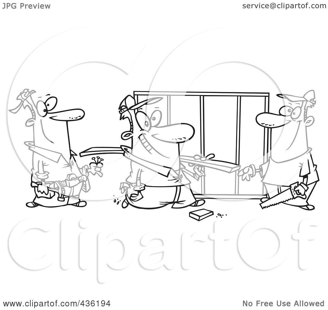 Construction Work Crew Clipart