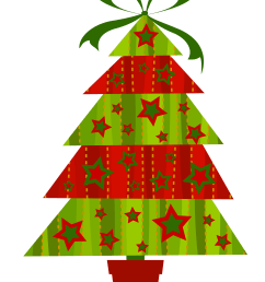 contemporary christmas tree clip art  [ 4083 x 5663 Pixel ]