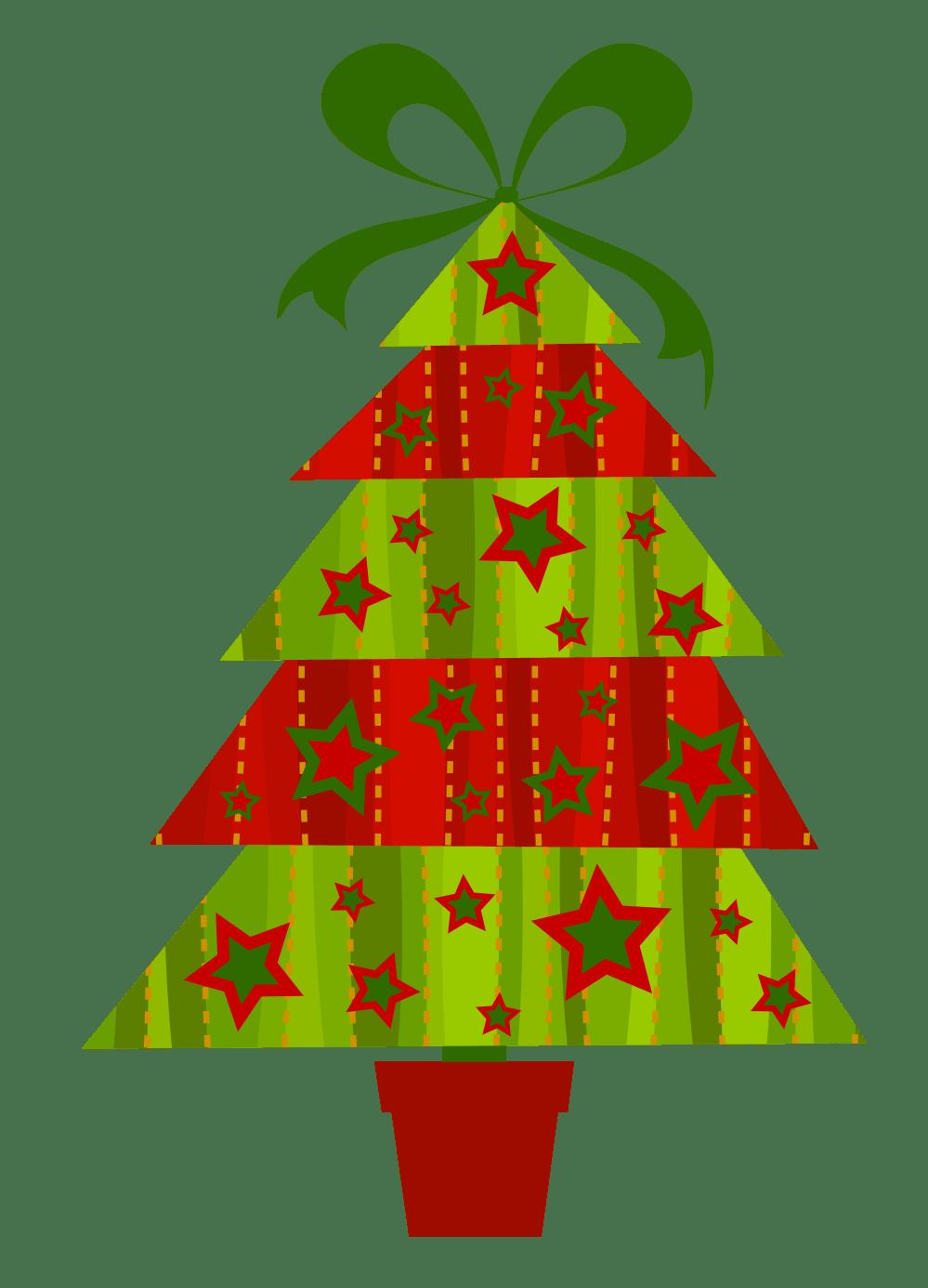 medium resolution of contemporary christmas tree clip art