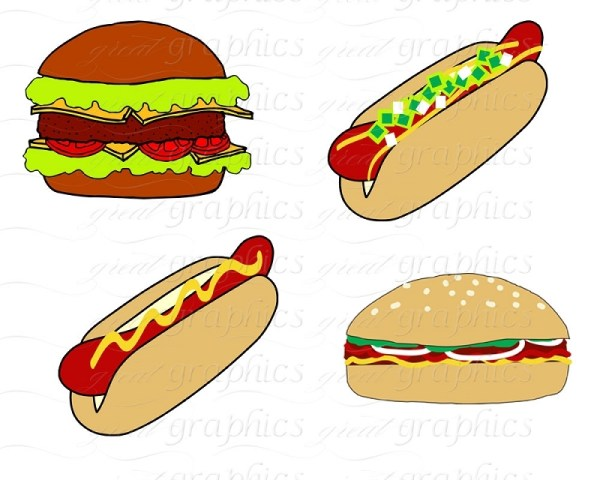 cookout food clipart - clipground