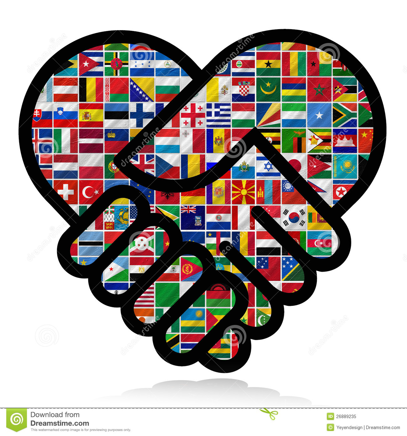 Copyright Free World Flag Clipart Resource