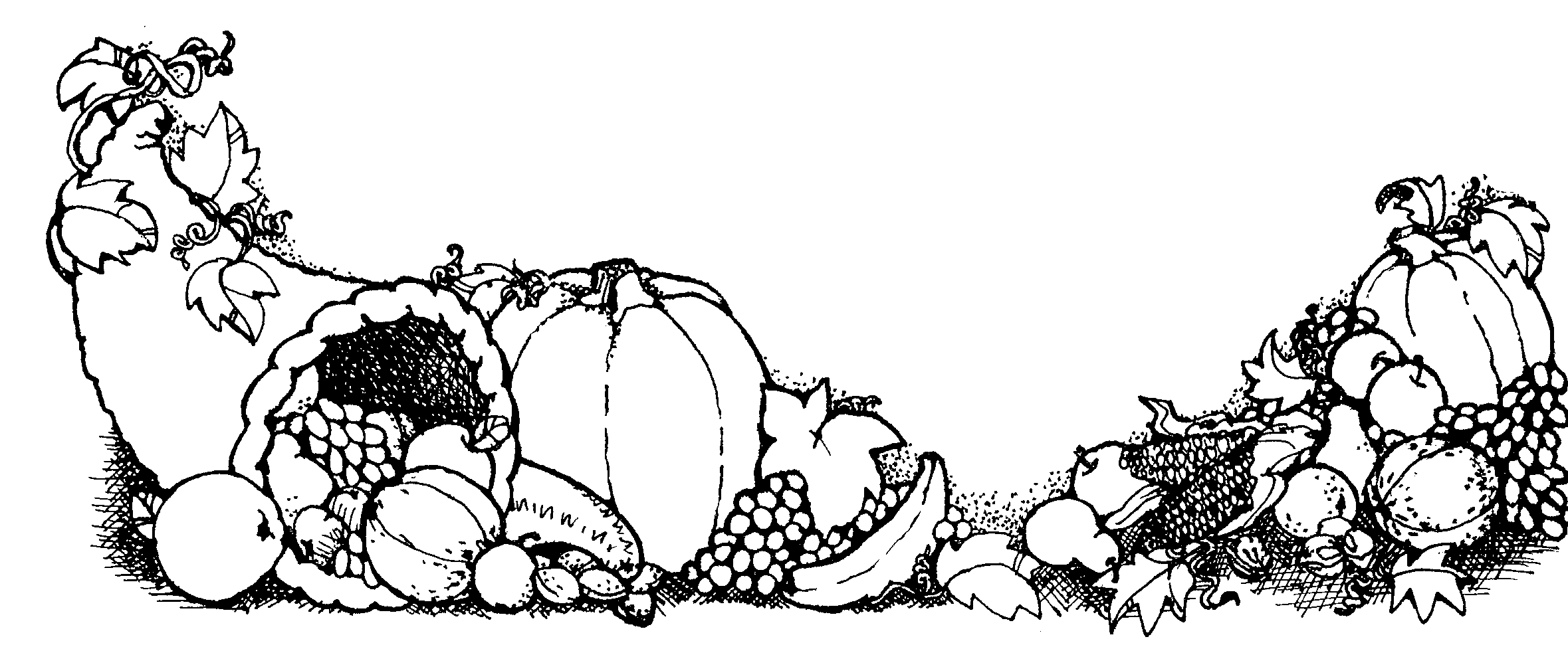 Cornucopia Clipart Black And White 20 Free Cliparts