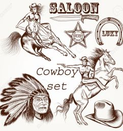 964 cowboys and indians stock illustrations cliparts and royalty  [ 1300 x 1300 Pixel ]
