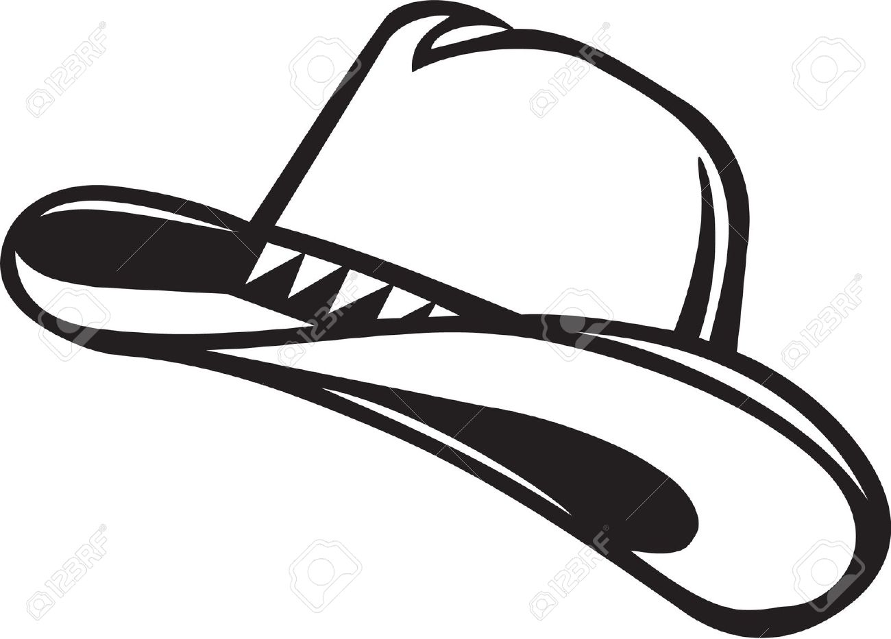 Cowboy Hat Silhouette Clipart 20 Free Cliparts