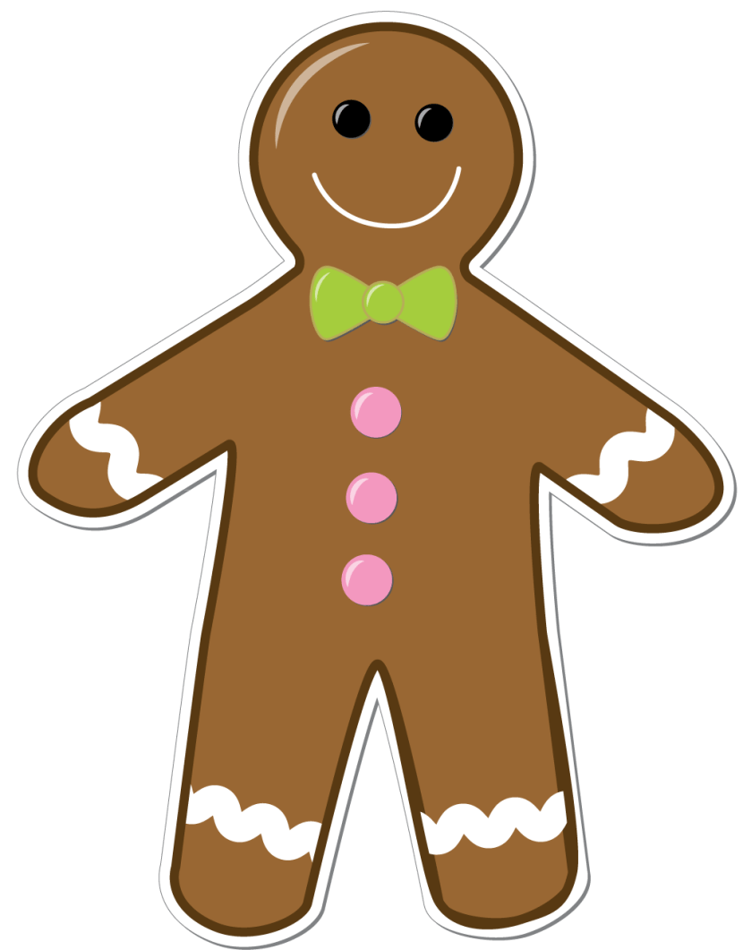 hight resolution of gingerbread man clipart png