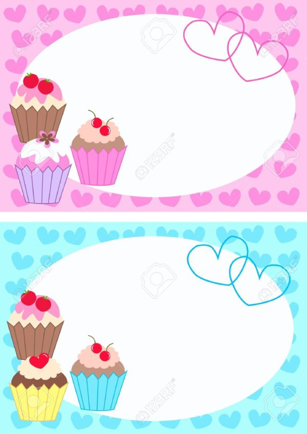 cupcake clipart border free - clipground