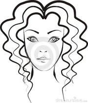 curly haired girl clipart - clipground