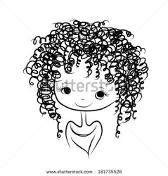 curly clipart sketch hair clipground smiling cute