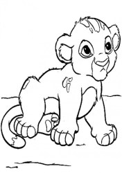 lion cub coloring baby clipart pages cute printable cubs drawing lioness clip clipground sketch getdrawings print cliparts ba template
