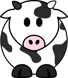 cow clipart cute clip milk cattle clipground pixabay cliparts