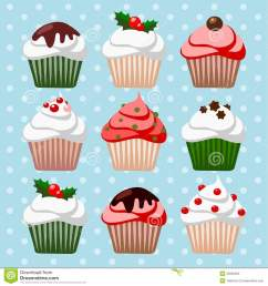free christmas cupcake clipart showing post media for christmas cupcakes cartoon  [ 1300 x 1390 Pixel ]