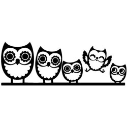 cute cartoon clipart funny owl stickers happy clipground 18cm reflective arrival decals ct silver