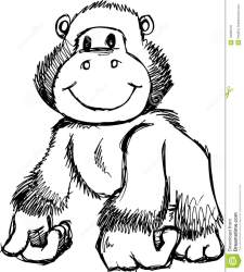 clipart gorilla cute vector illustration hometown helpers sketchy clipground cliparts delivery arrow royalty safari